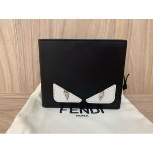 SOLD - NEW - FENDI Bag Bugs Century Black Calfskin Bifold Wallet
