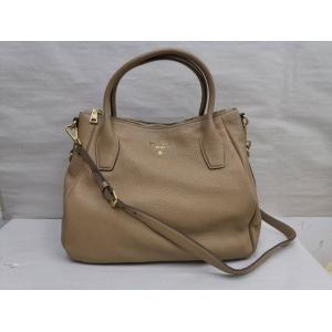 SOLD - PRADA Brown Leather Zip 2-Way Bag