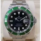 ROLEX 16610LV Kermit 50th Anniversary Submariner Green Bezel Auto S/S 40mm