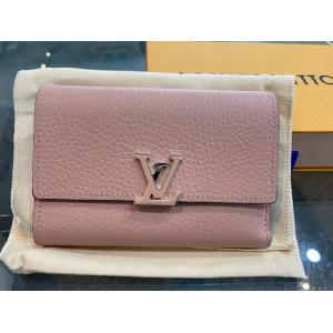 SOLD - LV Capucines Compact Wallet Magnolia (Hot-Stamping)