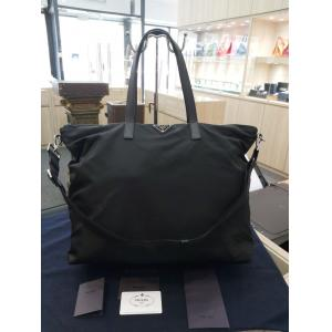 PRADA 2VG024 Nylon & Saffiano Leather Tote