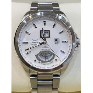 TAG Heuer Grand Carrera Grande Date GMT Silver Dial Calibre 8RS S/S Auto 42.5mm