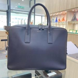YSL Small Museum Navy Blue Briefcase