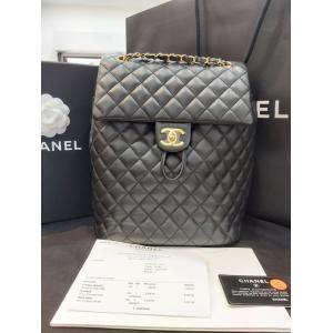 UNUSED 未使用品 - CHANEL Black Classic Urban Spirit Backpack Small Lambskin GHW