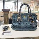 PRADA Blue Medium Gaufre Bag