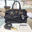 PRADA Black Nylon Gaufre 2-Way Bag