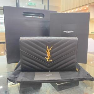 SOLD - YSL Envelope Chain Wallet