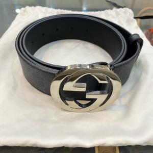 GUCCI GG Supreme Belt With G Buckle 35mm