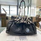 DIOR Black Leather Pony Hair Shoulder Bag